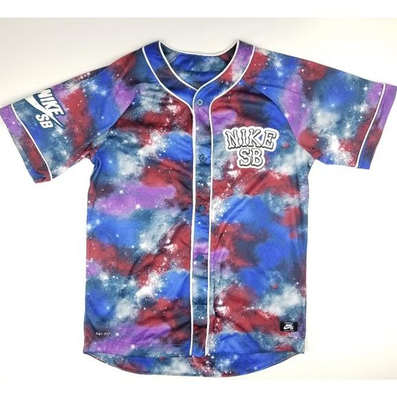 Nike SB Baseball Jersey Galaxy Full Prints